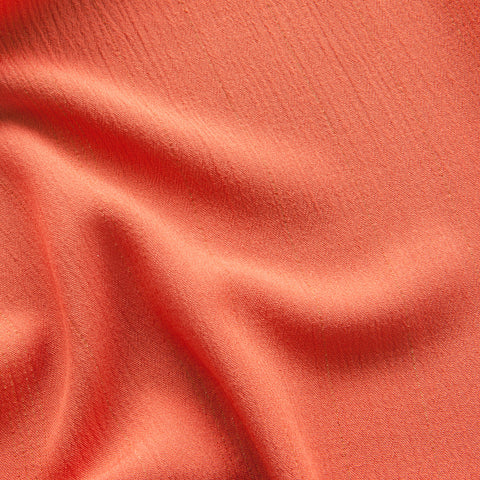 Sparkly Coral Crinkle Viscose