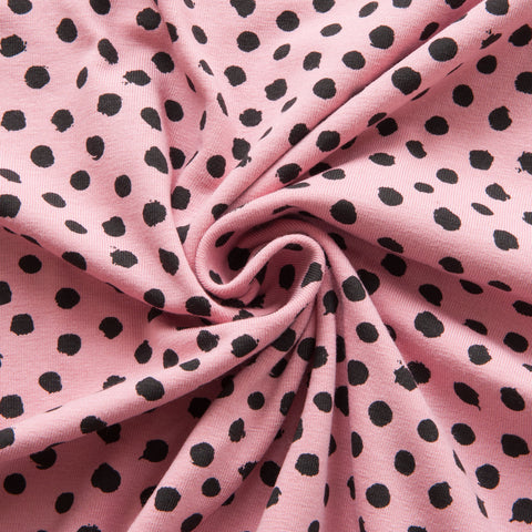 Spotty Organic Cotton Jersey in Rose
