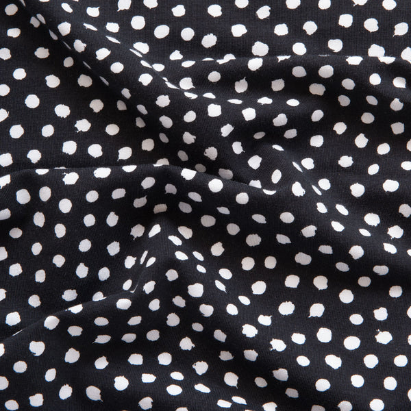 Spotty Organic Cotton Jersey in Black