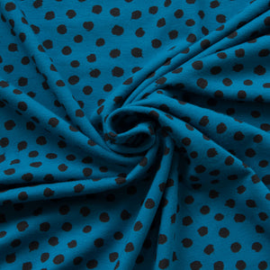 Spotty Organic Cotton Jersey in Petrol
