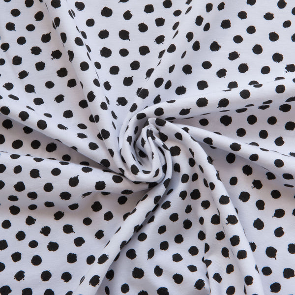 Spotty Organic Cotton Jersey in White