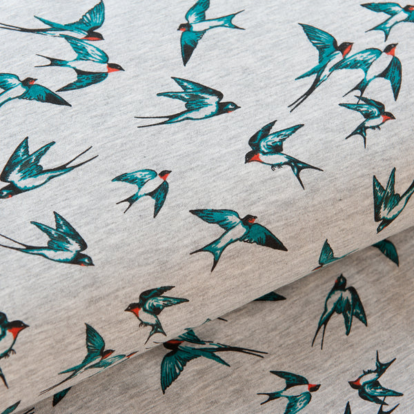 Swallows Viscose Jersey - 1.6m Piece
