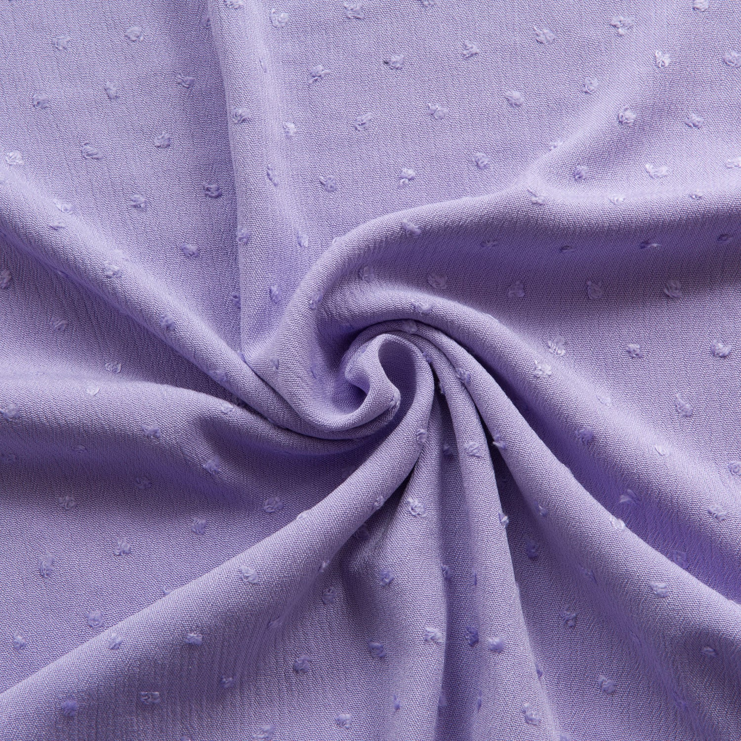 Swiss Dot Crinkle Viscose in Lilac