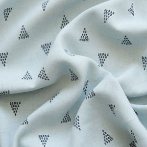 Triangles Linen Viscose in Blue