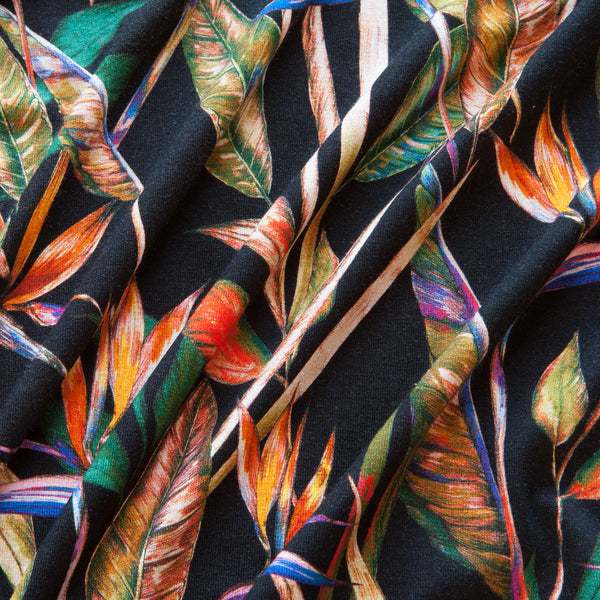 Tropical Palms Viscose Jersey