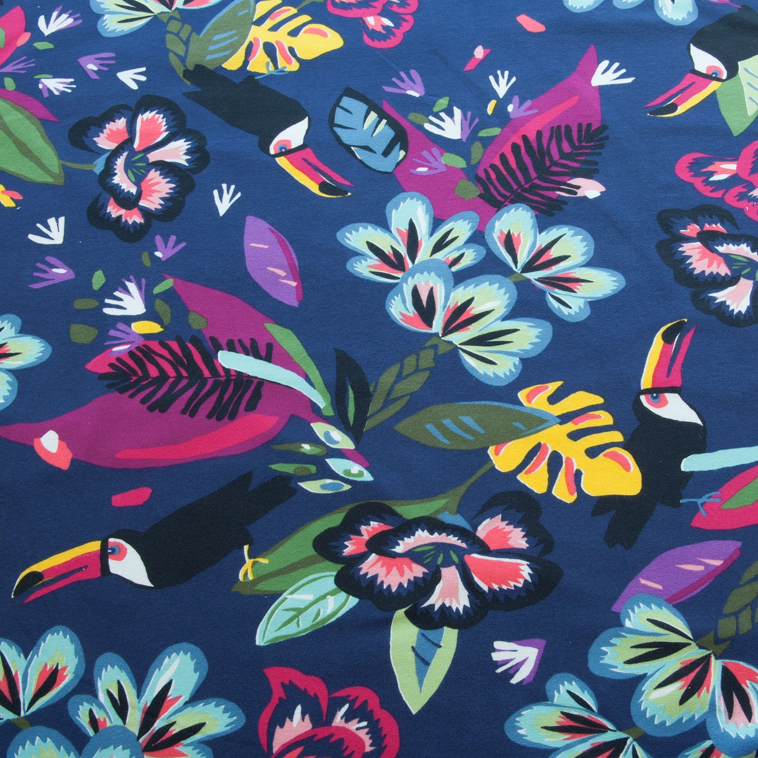 Tropical Toucans Loop Back Cotton Jersey