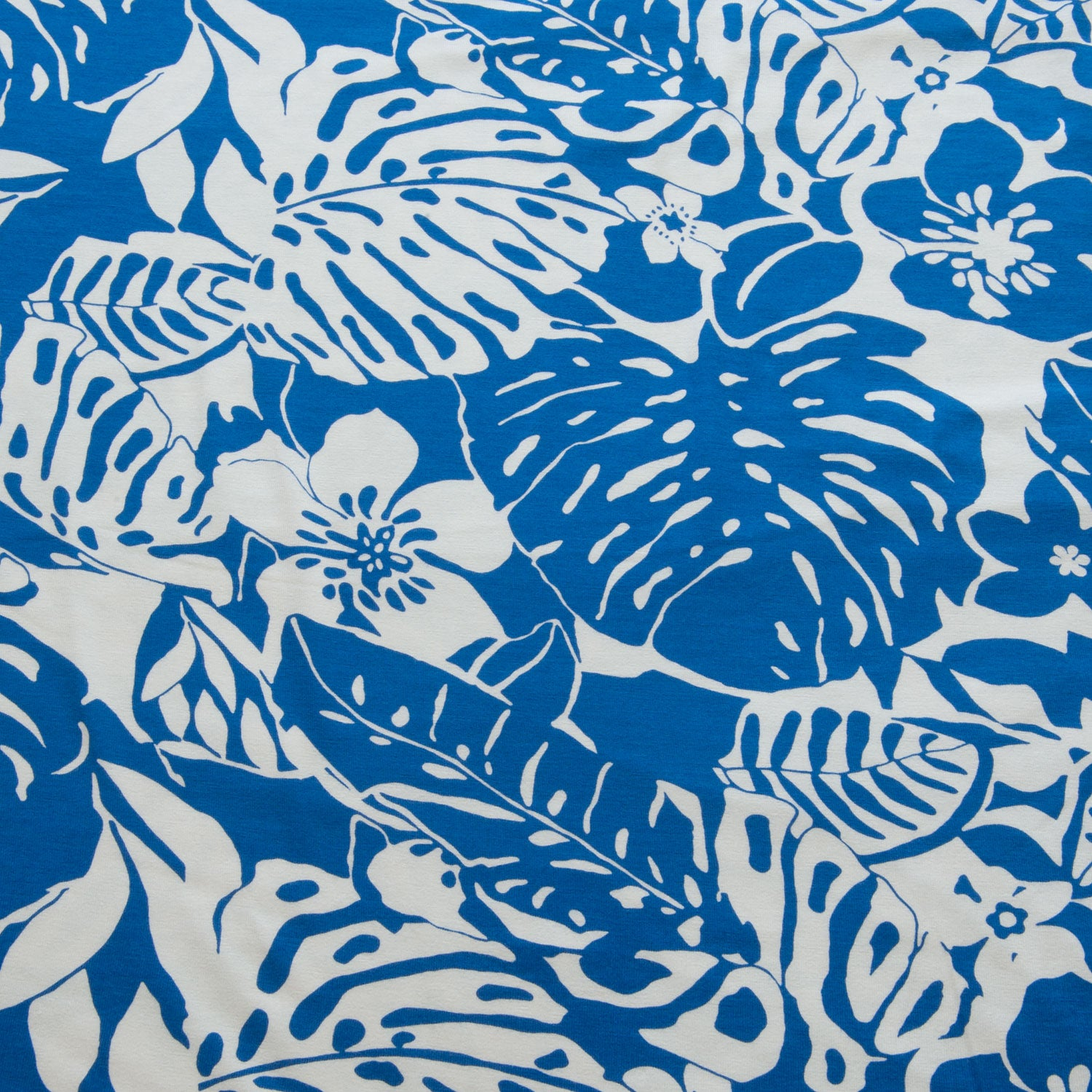 Tropical Viscose Jersey in Blue