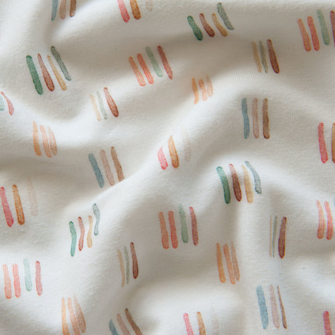 Watercolour Lines Organic Cotton Jersey