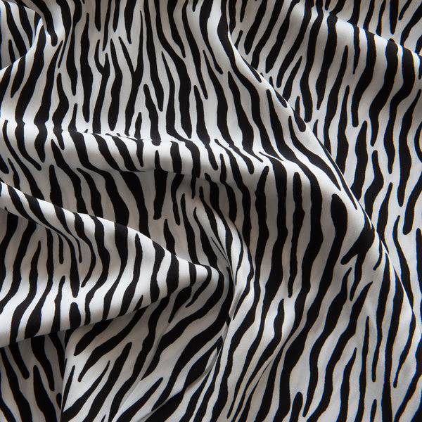Zebra Viscose in Off White