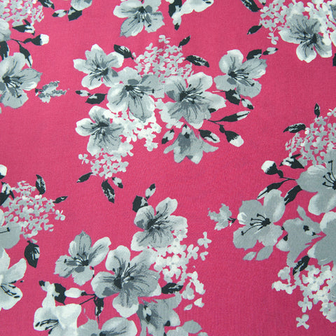 Arabelle Viscose in Pink - 1.1m Piece