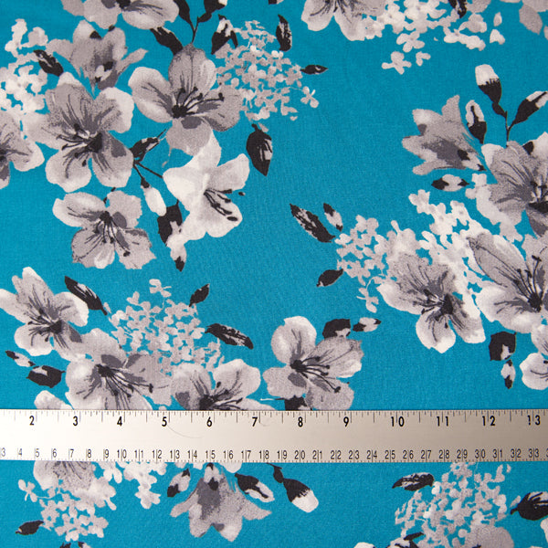 Arabelle Viscose in Turquoise Blue - 2.1m Piece