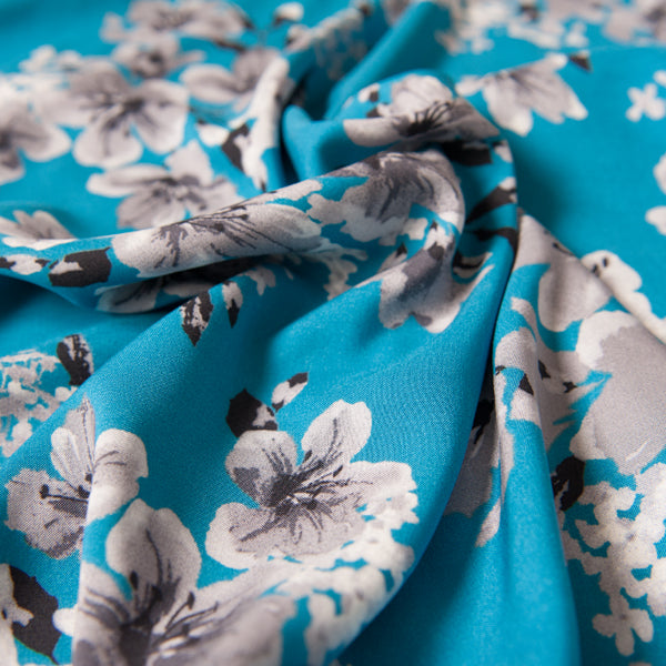 Arabelle Viscose in Turquoise Blue