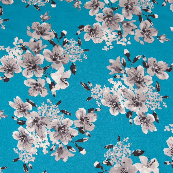 Arabelle Viscose in Turquoise Blue - 65cm Piece - Sale
