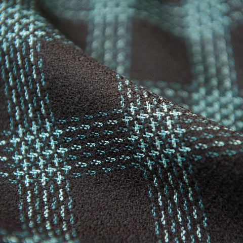 Black and Teal Check