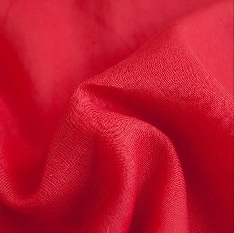 Viscose and Linen Mix - Coral