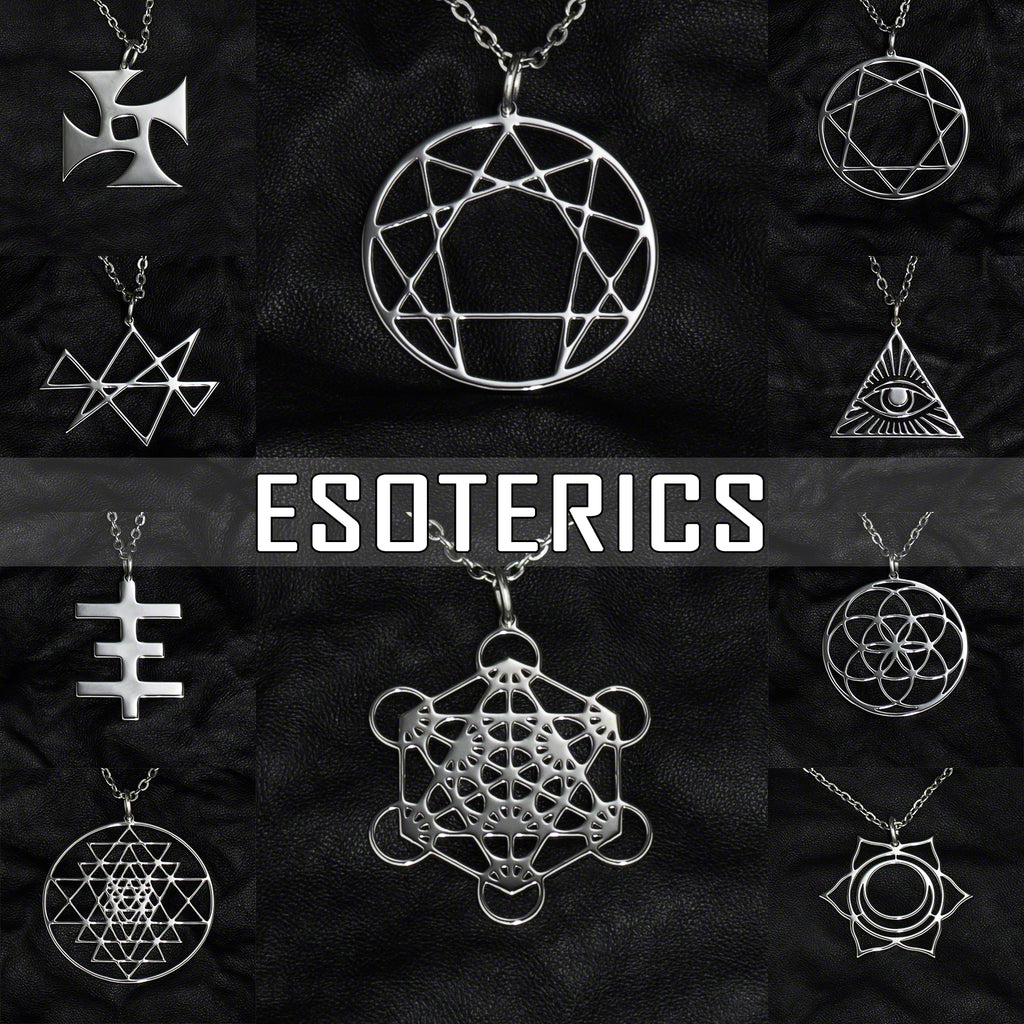 Stainless Steel Jewelry with Esoteric Symbols