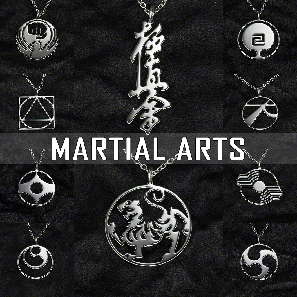 Stainless Steel Jewelry with Martial Arts Symbols