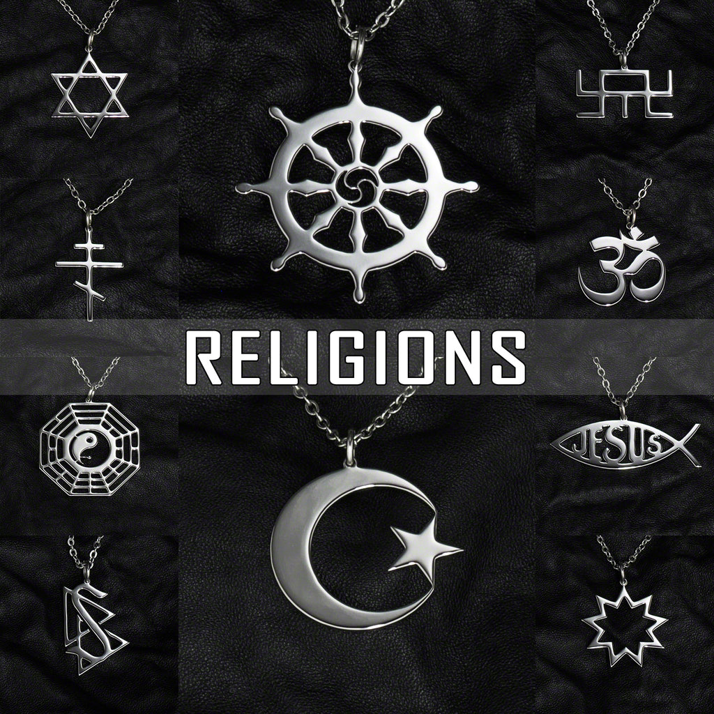 Stainless Steel Jewelry with Religious Symbols