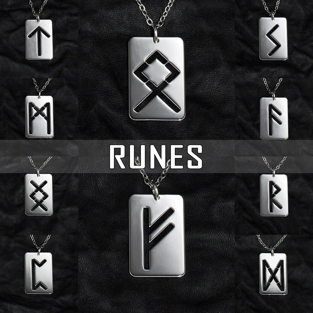 Stainless Steel Jewelry with Runes and Runic Symbols