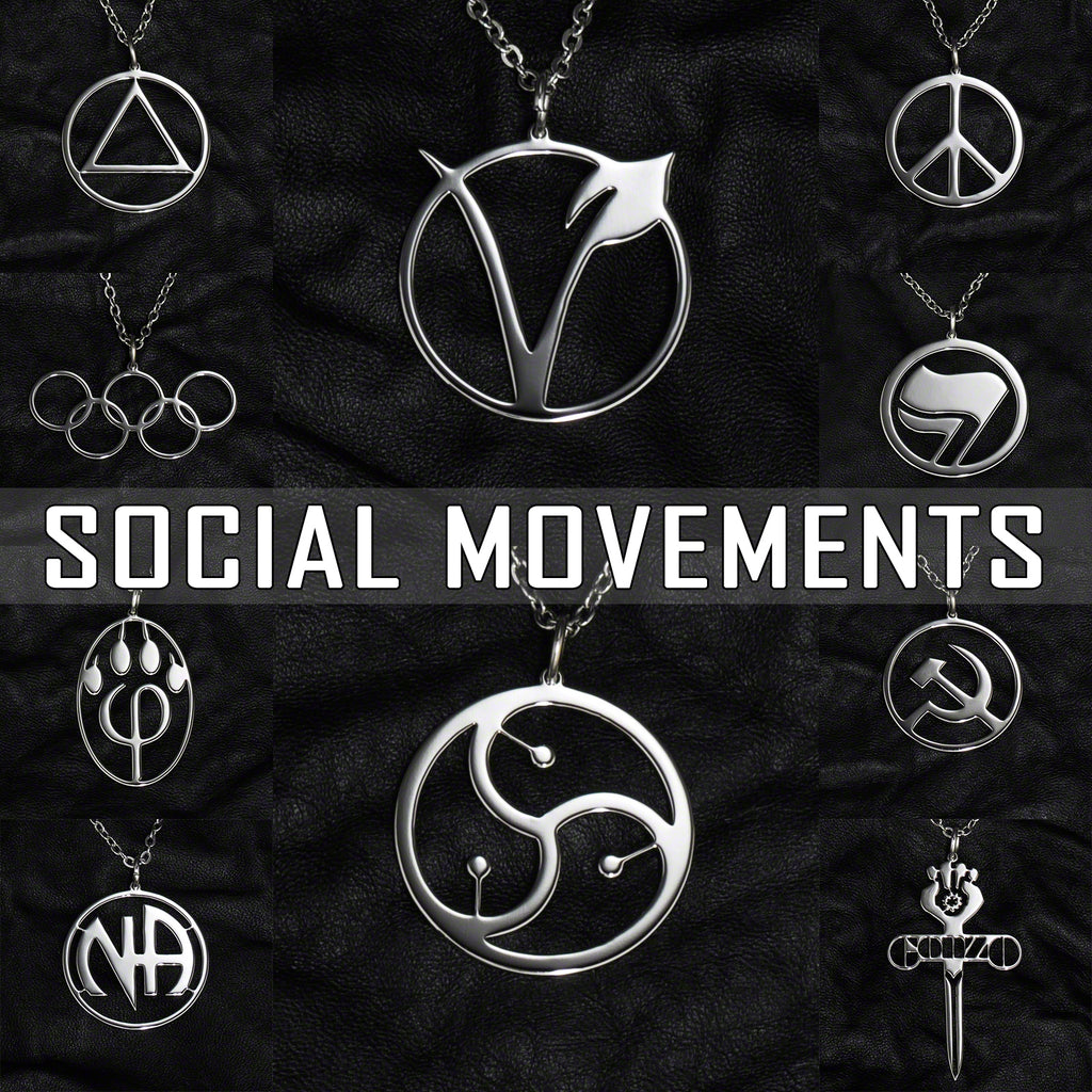 Stainless Steel Jewelry with Social Movements Symbols