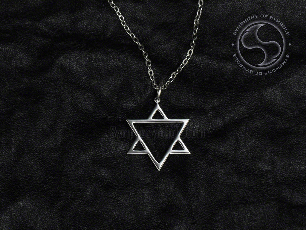 Stainless Steel Necklace with Alchemy Aether Symbol