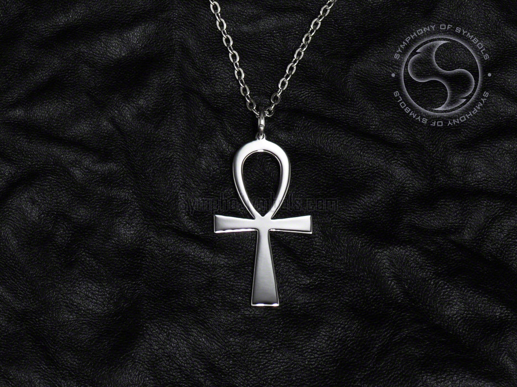 Stainless Steel Necklace with Egyptian Ankh Symbol