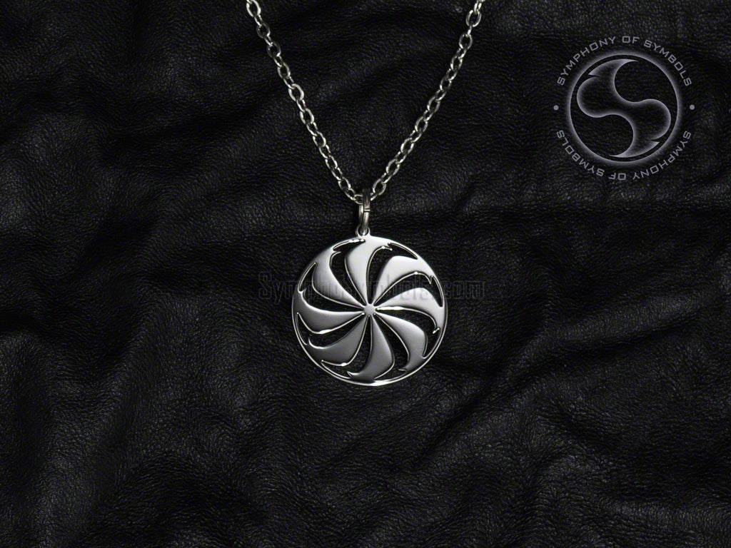 Stainless Steel Necklace with Armenian Arevakhach Symbol