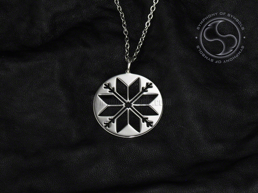 Latvian Stainless Steel Auseklis Necklace Jewelry