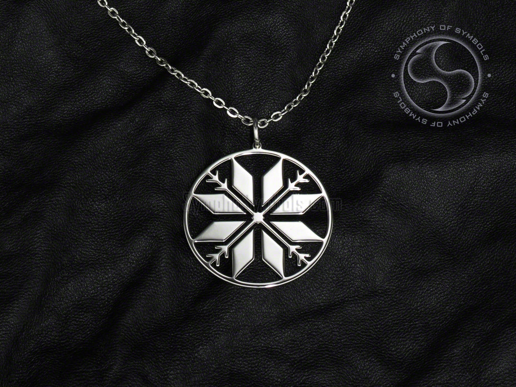 Auseklis Symbol Necklace Stainless Steel Latvian Jewelry