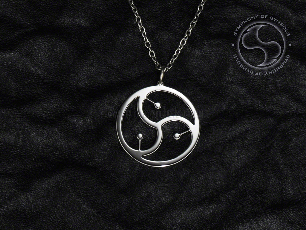 Stainless Steel Necklace with BDSM Symbol