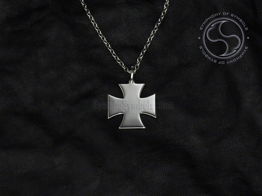 Cross Pattee Symbol Necklace Stainless Steel Templar Jewelry