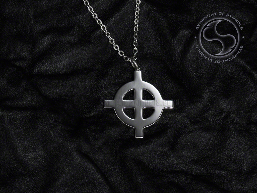 Stainless Steel Necklace with Celtic Cross Symbol