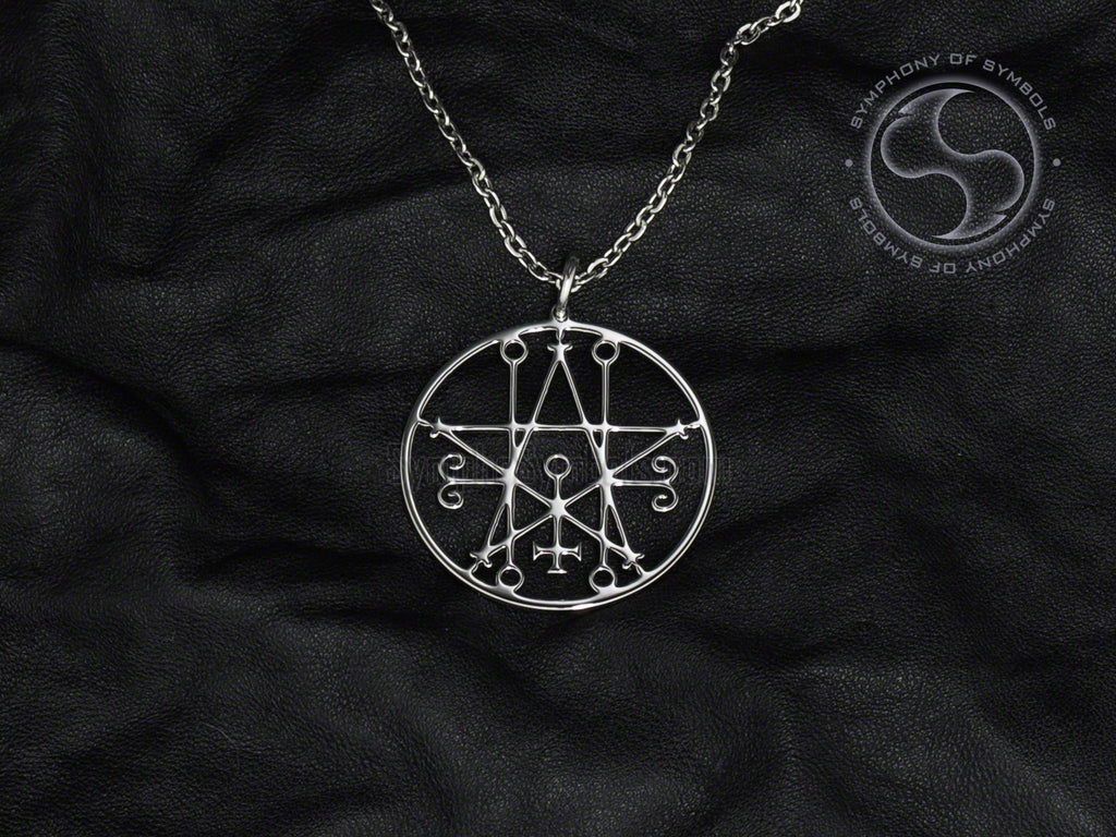 Stainless Steel Necklace with Astaroth Sigil Symbol