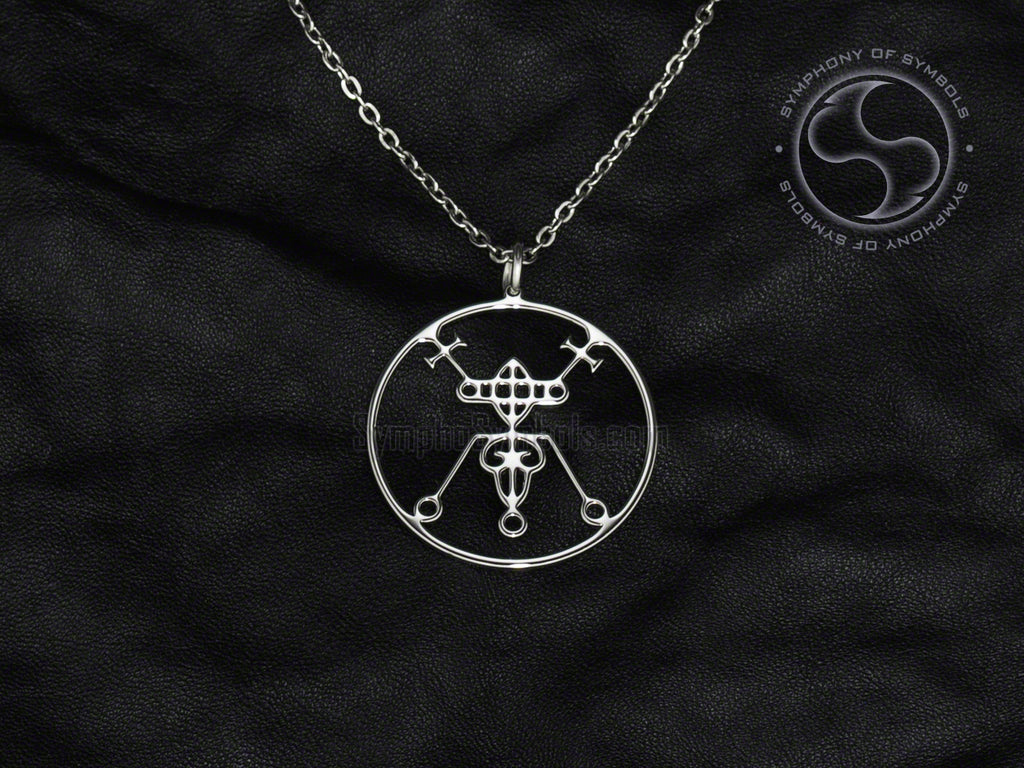 Stainless Steel Necklace with Bael Sigil Symbol