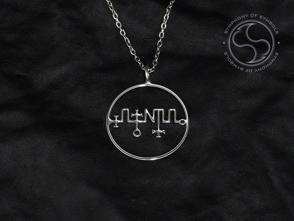 Stainless Steel Necklace with Zagan Sigil Symbol