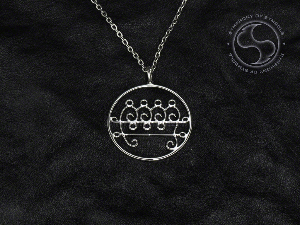 Stainless Steel Necklace with Paimon Sigil Symbol