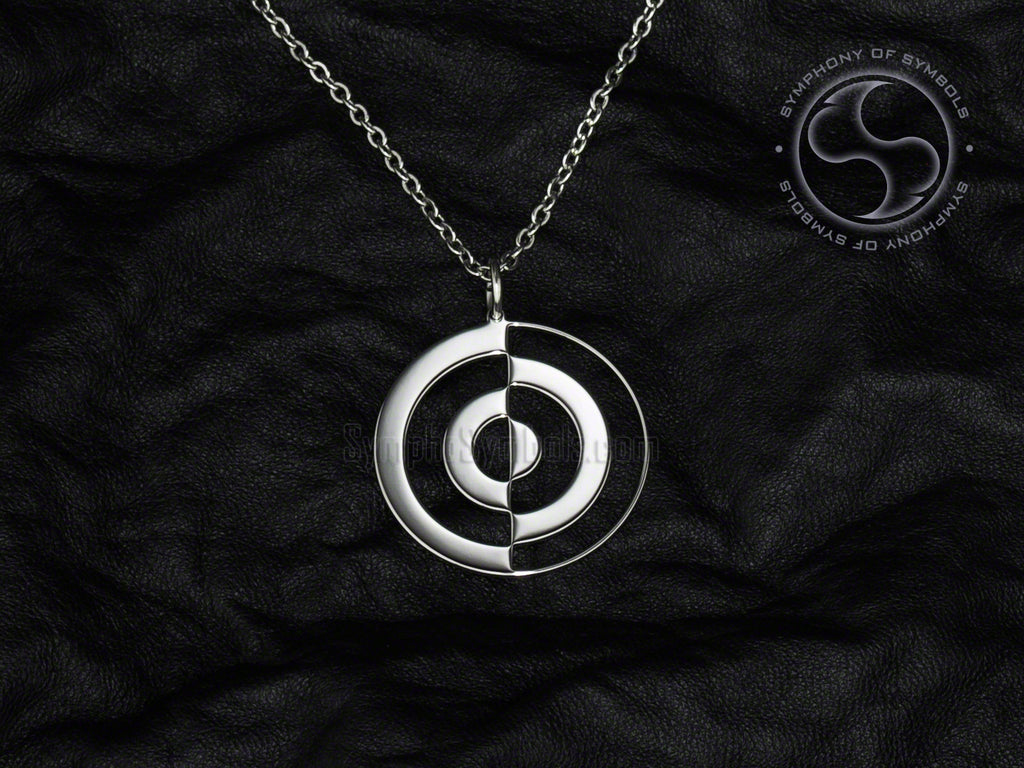 Stainless Steel Necklace with Korean Eum Yang Symbol