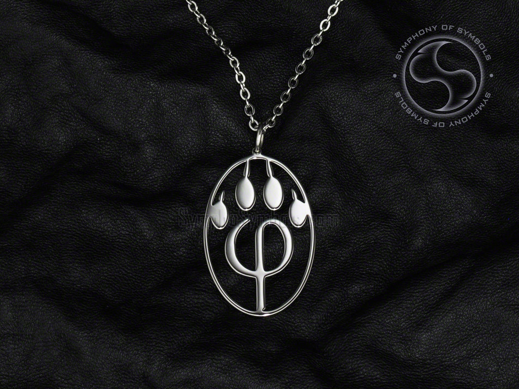 Stainless Steel Necklace with Furry PhiPaw Symbol