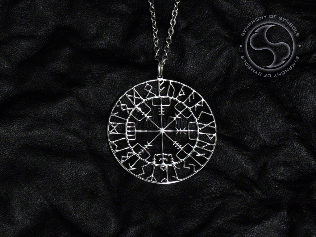 Vegvisir Symbol Necklace Stainless Steel Viking Jewelry