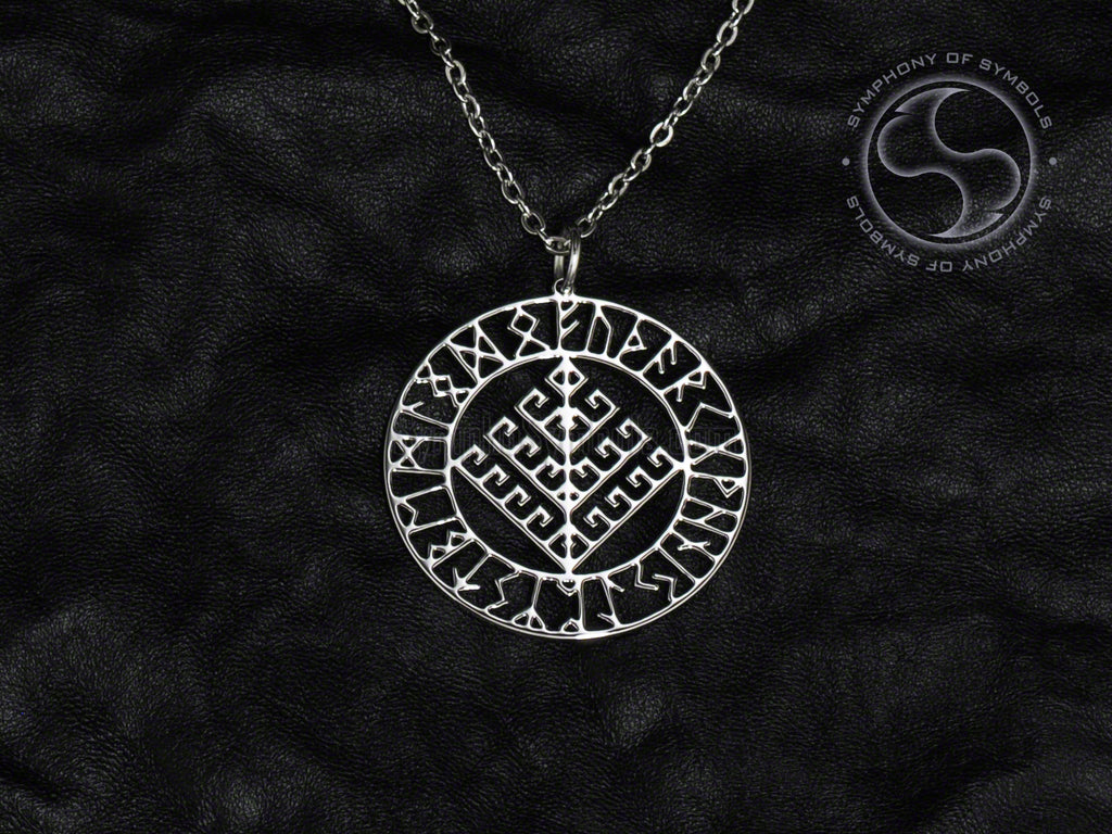 Yggdrasil Symbol Necklace Stainless Steel Viking Jewelry