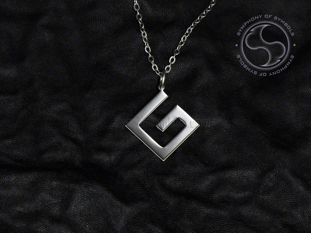 Stainless Steel Pendant with Grammar Nazi Symbol