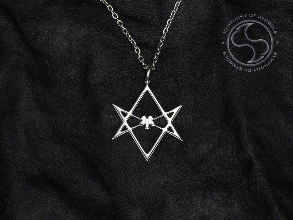 Unicursal Hexagram Symbol Pendant Stainless Steel Thelema Jewelry