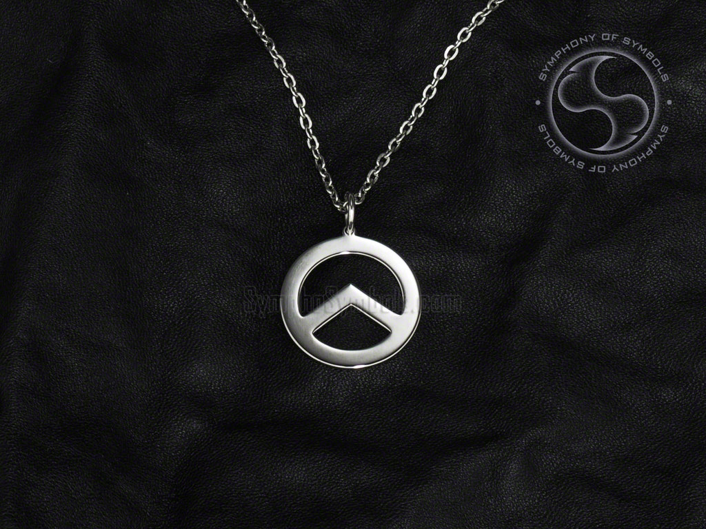 Stainless Steel Necklace with Identitarian Lambda Symbol