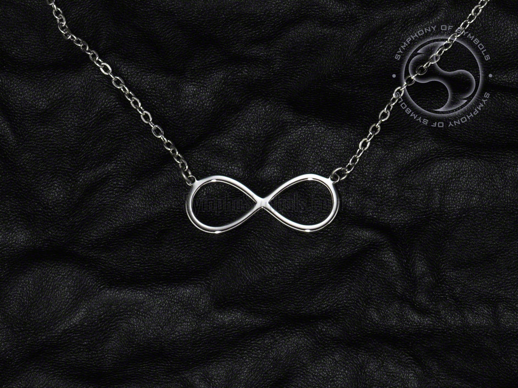 Stainless Steel Necklace with Infinity Symbol