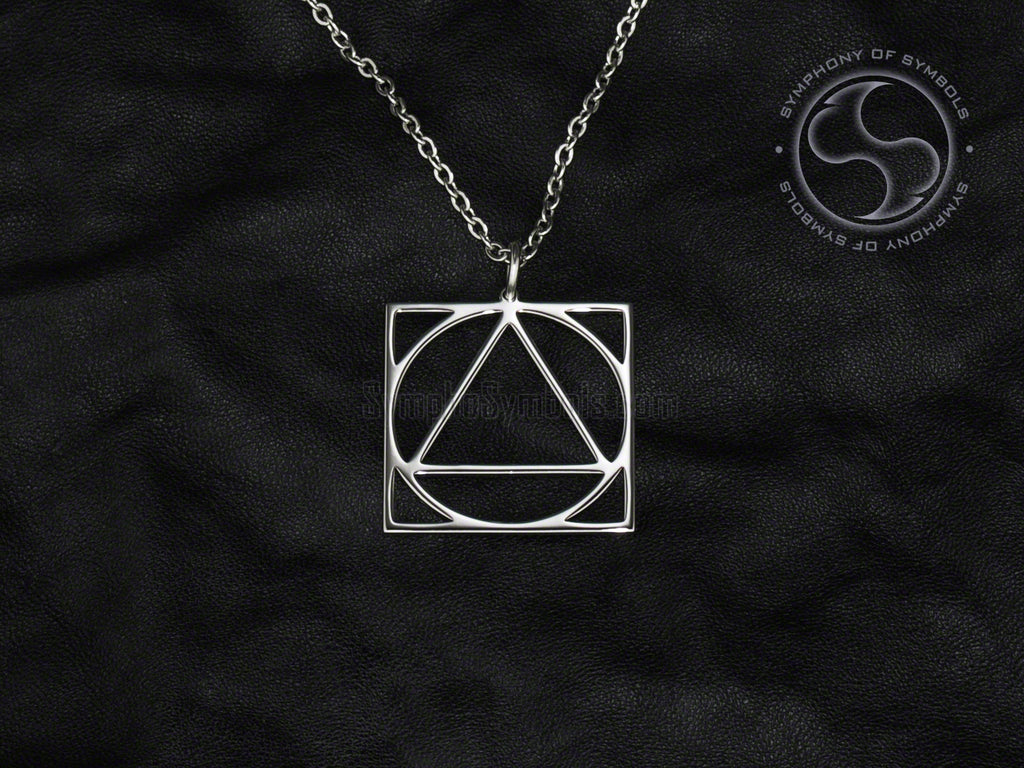 Stainless Steel Necklace with Aikido Symbol