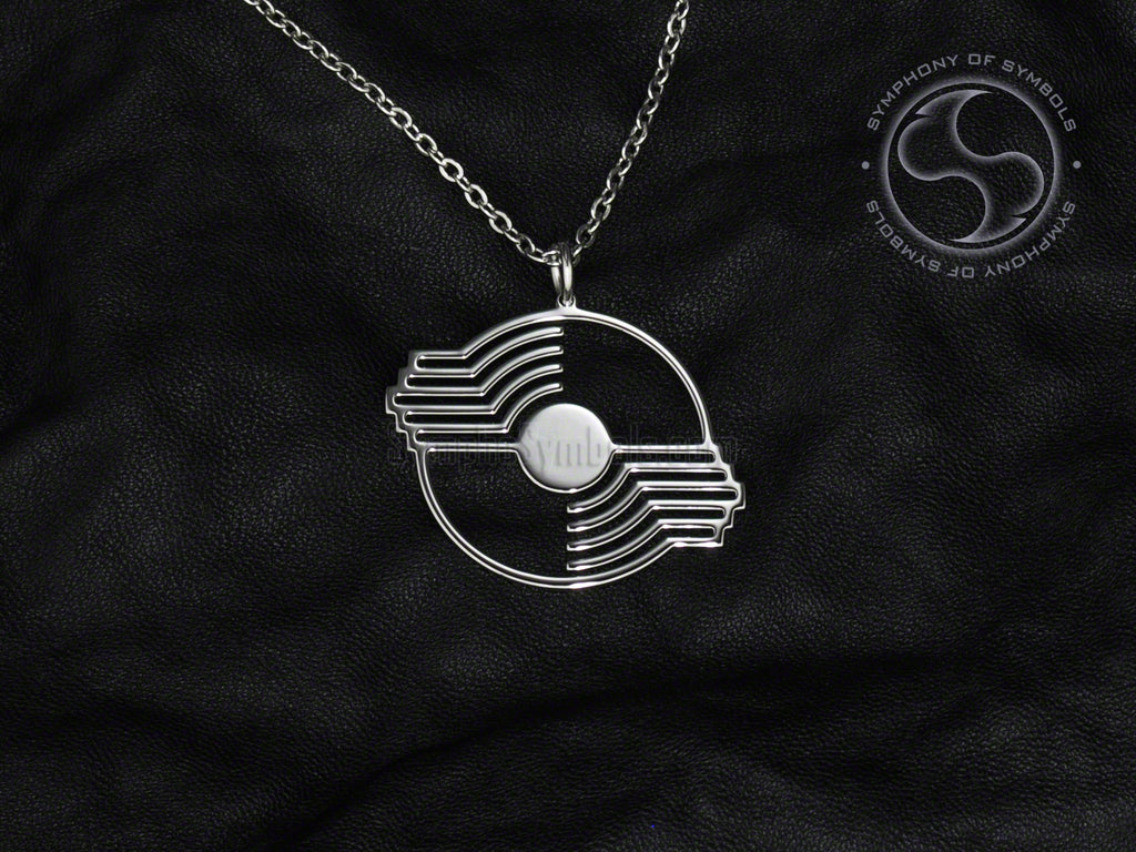 Stainless Steel Necklace with Chito-Ryu Karate Symbol