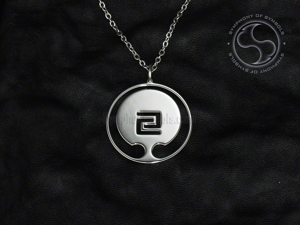 Stainless Steel Necklace with Goju-Ryu Karate Symbol