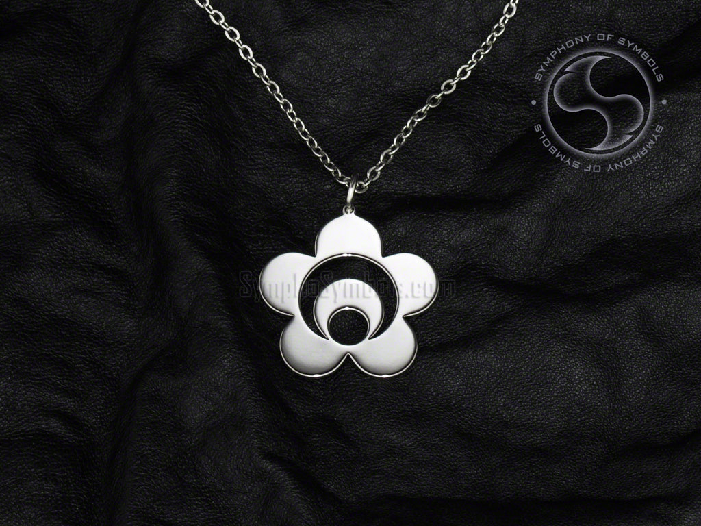 Stainless Steel Necklace with Seido Karate Symbol