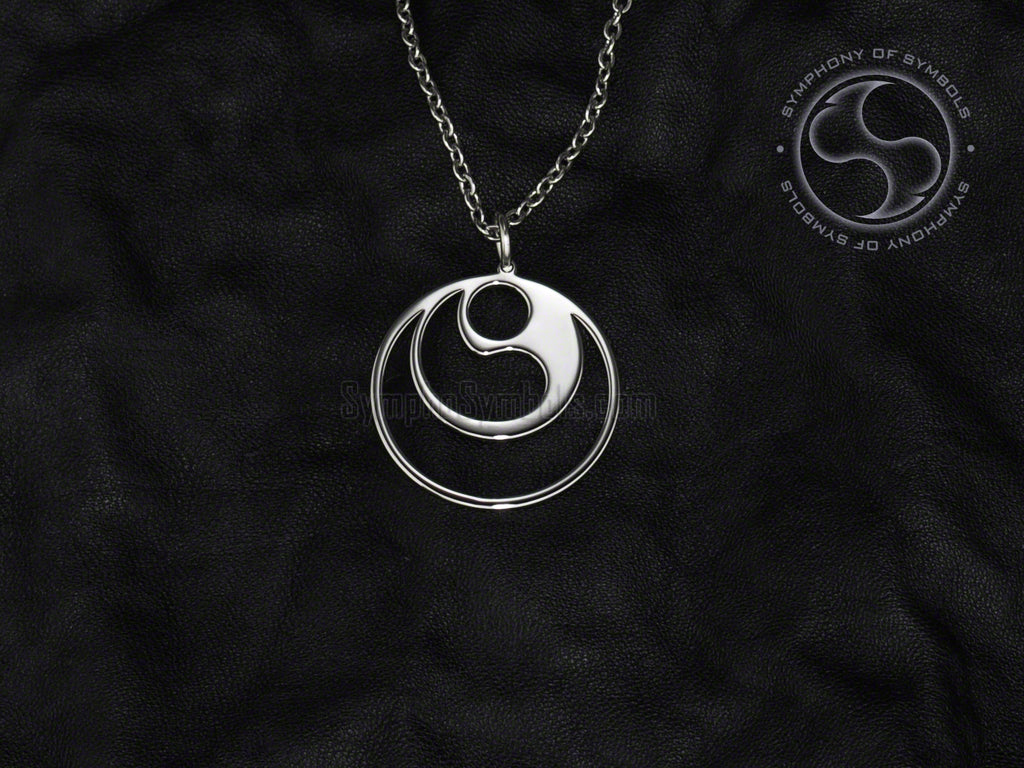 Stainless Steel Necklace with Karate Shinkyokushin Symbol