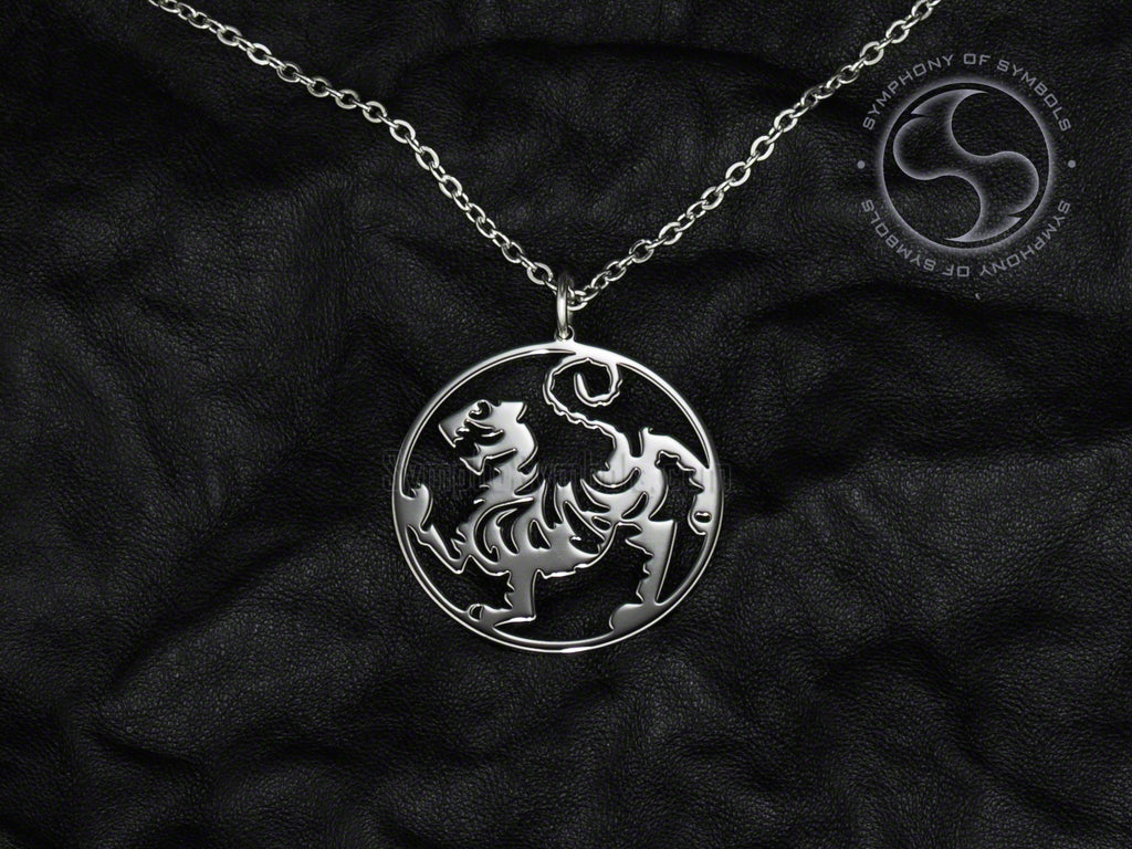 Stainless Steel Necklace with Shotokan Karate Symbol